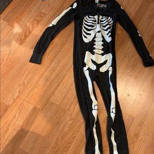 Victoria secret pink skeleton onesie